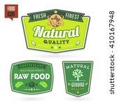 set of organic bio labels on... | Shutterstock .eps vector #410167948