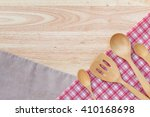 flat lay photo of kitchen tools ... | Shutterstock . vector #410168698