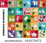 cartoon doodle animals alphabet ... | Shutterstock . vector #410175472