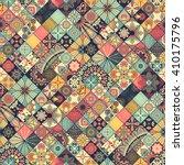 seamless pattern. vintage... | Shutterstock .eps vector #410175796