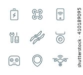 set of drone line icons.... | Shutterstock .eps vector #410189095