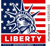 statue of liberty  new york ... | Shutterstock .eps vector #410191102