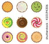 set of vector cupcakes. top... | Shutterstock .eps vector #410194306