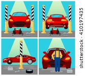 car service  repairs and... | Shutterstock .eps vector #410197435