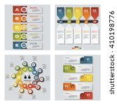 collection of 4 design colorful ... | Shutterstock .eps vector #410198776