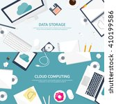 cloud computing illustration... | Shutterstock .eps vector #410199586