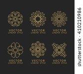vector set of linear design... | Shutterstock .eps vector #410210986