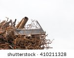 Scrap Metal Isolated On The...
