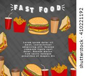 fast food menu template  fast... | Shutterstock .eps vector #410221192