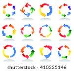 arrow signs  vector | Shutterstock .eps vector #410225146