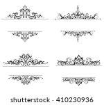 vintage vector swirl frame set | Shutterstock .eps vector #410230936
