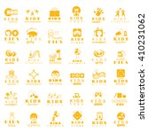 children icons set isolated on... | Shutterstock .eps vector #410231062