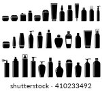 black glossy cosmetics bottle... | Shutterstock .eps vector #410233492