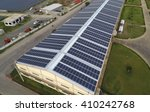 solar panels on rooftop | Shutterstock . vector #410242768