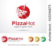 pizza hot logo template design...   Shutterstock .eps vector #410246875
