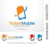 ticket mobile logo template... | Shutterstock .eps vector #410247292