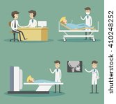 medical services with doctors... | Shutterstock .eps vector #410248252