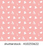 pink baby seamless pattern | Shutterstock .eps vector #410253622