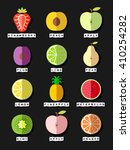 fruit icons set. strawberry....   Shutterstock .eps vector #410254282