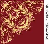 premium gold vintage baroque... | Shutterstock .eps vector #410263186