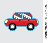 child's toy red car. vector... | Shutterstock .eps vector #410274826