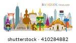 bangkok  thailand and landmarks ...   Shutterstock .eps vector #410284882
