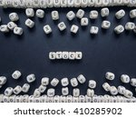 word stock of small white cubes ... | Shutterstock . vector #410285902