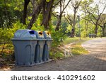 segregated waste bins for... | Shutterstock . vector #410291602
