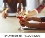 experts tasting new sorts of... | Shutterstock . vector #410295208