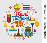 thailand landmark objects icons ... | Shutterstock .eps vector #410296336