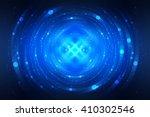 abstract fractal blue... | Shutterstock . vector #410302546