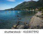 milos beach  levkada  ionian... | Shutterstock . vector #410307592