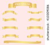 gold ribbon. gold ribbon vector....