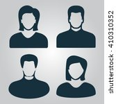 people avatar icon vector.... | Shutterstock .eps vector #410310352