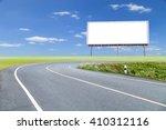 blank billboard for your... | Shutterstock . vector #410312116
