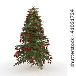 christmas tree isolated | Shutterstock . vector #41031724