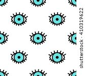 blue doodle eyes. vector... | Shutterstock .eps vector #410319622