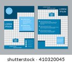 modern two sided professional... | Shutterstock .eps vector #410320045