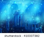 atlantis. seamless submerged... | Shutterstock .eps vector #410337382