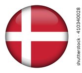 Round glossy Button with flag of Denmark