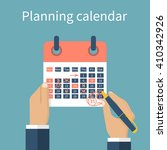 mark calendar. calendar in...   Shutterstock .eps vector #410342926