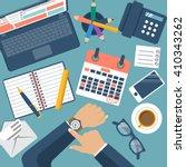 deadline concept  flat design ... | Shutterstock .eps vector #410343262