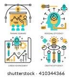 flat line design vector... | Shutterstock .eps vector #410344366