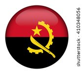 flag of angola glossy button | Shutterstock .eps vector #410348056