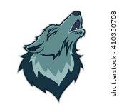 wolf head mascot | Shutterstock .eps vector #410350708
