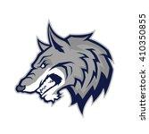 wolf head mascot | Shutterstock .eps vector #410350855