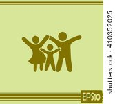 happy family icon in simple... | Shutterstock .eps vector #410352025