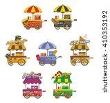 food vendor   sale cart | Shutterstock .eps vector #410353192