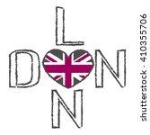 london city typography graphics.... | Shutterstock .eps vector #410355706