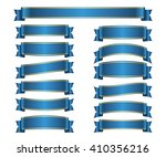 ribbon banners set. sign blank... | Shutterstock .eps vector #410356216
